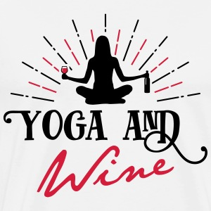 Yoga and Wine - lustig - oktoberfest - Männer Premium T-Shirt