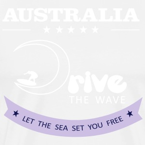 Australië Drive The Wave 02 - Mannen Premium T-shirt