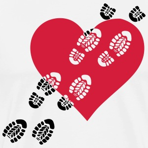 Uups broken / heart shoes footprint 2c - Men's Premium T-Shirt