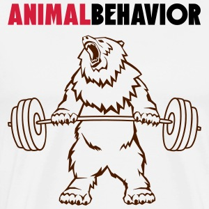 Animal behavior color above - Men's Premium T-Shirt