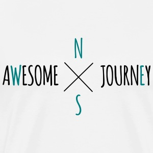 Awesome Journey - Travel (biltur) t-skjorte - Premium T-skjorte for menn