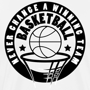 basketball never change a winning team - Mannen Premium T-shirt