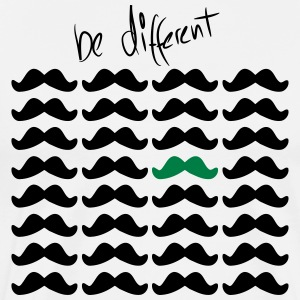 "Beard ""be different"" unique unique 2c - Men's Premium T-Shirt"