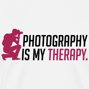 Fotografie is mijn therapie - Mannen Premium T-shirt