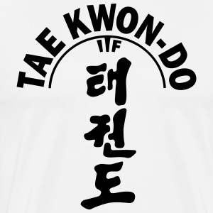 ITF Tae Kwon Do symboler - Premium T-skjorte for menn