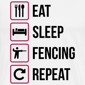 Eat Sleep Fäktning Repeat - Premium-T-shirt herr