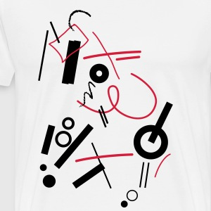 Abstract composition - T-shirt Premium Homme