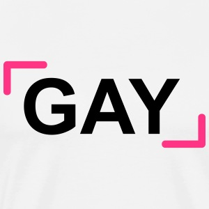 GAY - Premium T-skjorte for menn