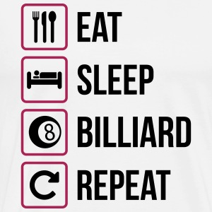 Eat Sleep Biljard Repeat - Premium-T-shirt herr