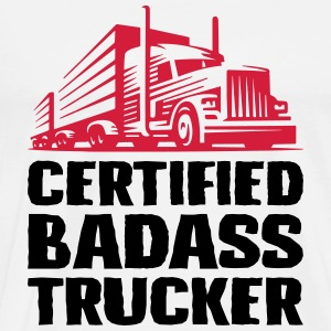 Certified badass trucker - Men's Premium T-Shirt