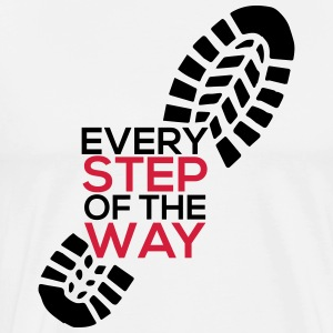 Every step of the way - Men's Premium T-Shirt