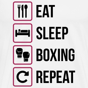 Eat Sleep Boxing Repeat - Men's Premium T-Shirt