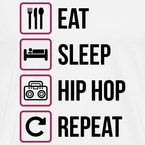 Eat Sleep Hip Hop Repeat - Mannen Premium T-shirt