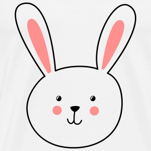 Bunny rabbit face animal face - Men's Premium T-Shirt