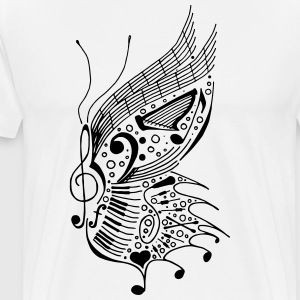 music butterfly 2 - Men's Premium T-Shirt