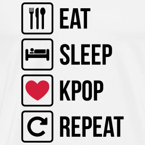 Eat Sleep Gjenta KPOP - Premium T-skjorte for menn