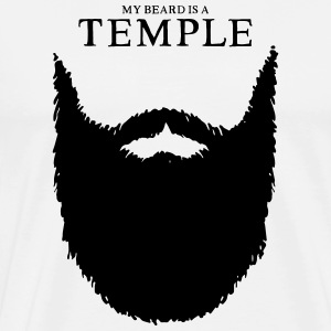 my beard is a temple - Männer Premium T-Shirt
