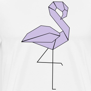 Geometric Flamingo - Men's Premium T-Shirt