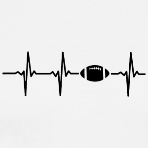 My heart beats for football - Men's Premium T-Shirt