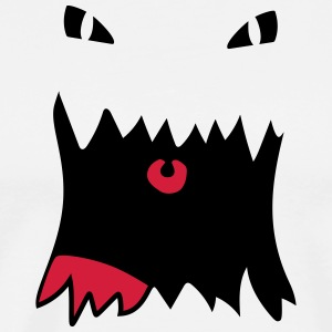 monster Face - Premium-T-shirt herr