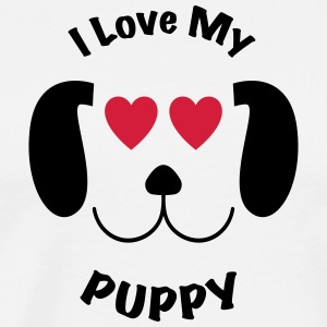 Jeg elsker min PUPPY AWSOME T-SHIRT DESIGN - Premium T-skjorte for menn