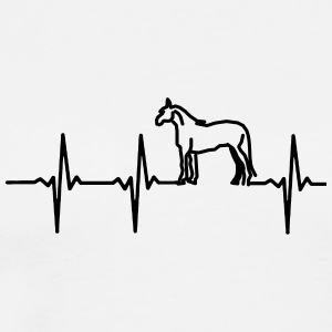 My heart beats for horses - Men's Premium T-Shirt