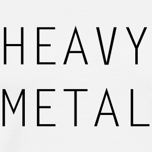 HEAVY METAL - Premium T-skjorte for menn