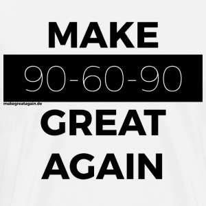 MAKE 90-60-90 GREAT AGAIN black - Men's Premium T-Shirt