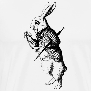 White Rabbit - Herre premium T-shirt