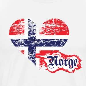 A heart for Norge - Men's Premium T-Shirt