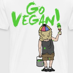 GO VEGAN - Men's Premium T-Shirt
