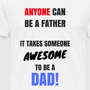 Awesome pappa - Premium-T-shirt herr