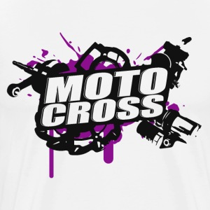 Cross Supermoto Enduro Vol.I p / b - Premium-T-shirt herr