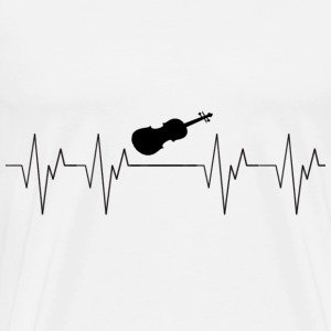 Double Bass Cello Musical Instrument Heartbeat Beat - Men's Premium T-Shirt
