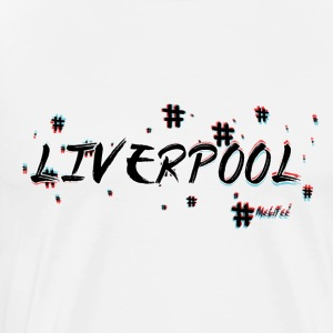 Liverpool # 3d - Premium T-skjorte for menn