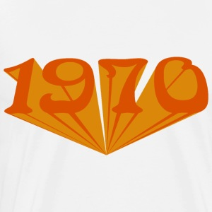 1970 starship orange - Men's Premium T-Shirt