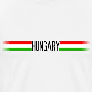 Hungary flag / banner 005 AllroundDesigns - Men's Premium T-Shirt