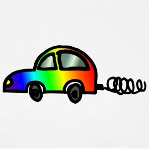 Colorful car: rainbow beetle - Men's Premium T-Shirt