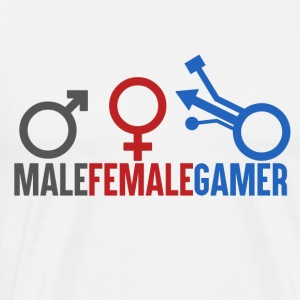 Gamer - Male Female Gamer - Men's Premium T-Shirt