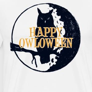 De gelukkige Uil van Halloween Owloween Happy Holiday - Mannen Premium T-shirt
