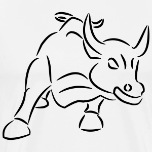 Ride the bull trading trader skjorte skjorte gave - Premium T-skjorte for menn