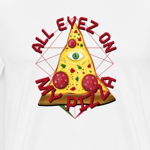ALL MY PIZZA Eyes On Illuminati Italia Fun T-Shirt - Premium T-skjorte for menn