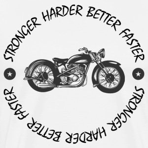 Harder Better Faster Stronger - Premium T-skjorte for menn