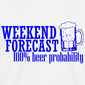 WEEKEND PROGNOSE 100% BEER blå - Herre premium T-shirt