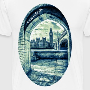 London the Palace of Westminster and Big Ben - Men's Premium T-Shirt