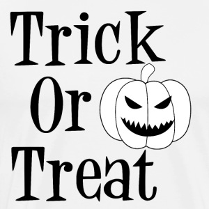 Trick or Treat Pumpkin Jack O Lantern Halloween - Premium T-skjorte for menn