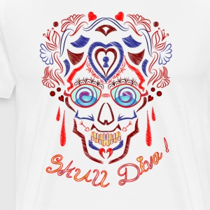 Skalle Tattoo Art - Premium-T-shirt herr