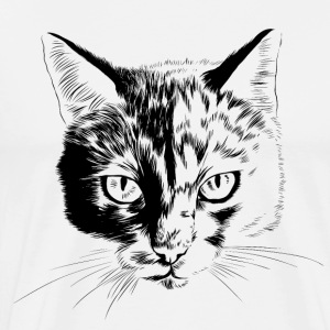 Cat portrait - Men's Premium T-Shirt