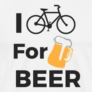 I CYCLE FOR BEER - Men's Premium T-Shirt