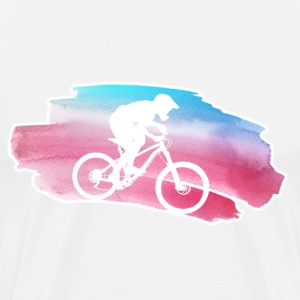 Watercolor MTB - Men's Premium T-Shirt